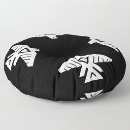Thunderbird flag - Inverse version Floor Pillow