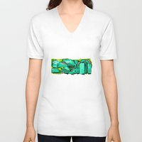 spain V-neck T-shirts featuring SPAIN by clogtwo
