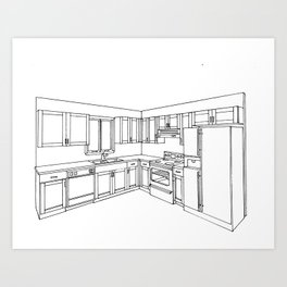 Kitchen Interior 1 Art Print