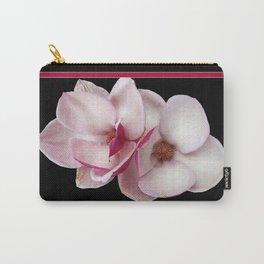 tulip magnolia twins (black bg) Carry-All Pouch