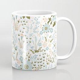 Star Sapphire Floral Celebration Teal Coffee Mug