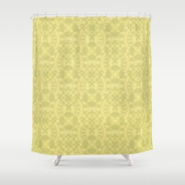 Yellow patchwork 3 Shower Curtain