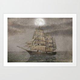 Night Journey  Art Print