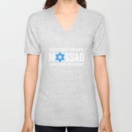 Mossad Star Of David Israel Secret Intelligence IDF Unisex V-Neck