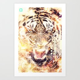 Feline Fire Art Print