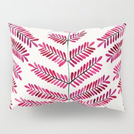 Pink Leaflets Pillow Sham