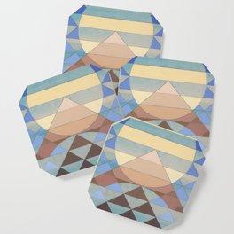 Pyramid Sun Turquoise Coaster