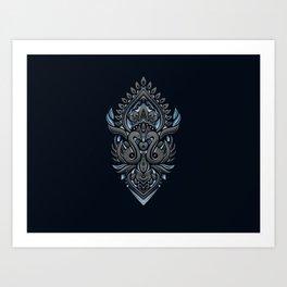 Swans Batik Solo Art Print