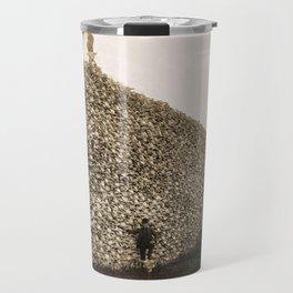 American Bison Skulls Pile to be used for fertilizer (c 1870) Travel Mug