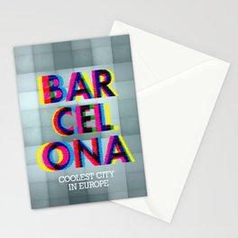 Barcelona Glitch Psychedelic Stationery Cards