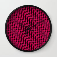 the strokes Wall Clocks featuring Strokes by Susan Marie