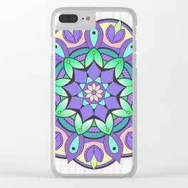 Mandala Awakening 2 Clear iPhone Case