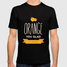 Orange you glad you're mine Black SMALL Mens Fitted Tee