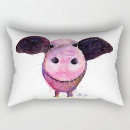 Nosey Pig ' Pigs CAN Fly ' by Shirley MacArthur Rectangular Pillow