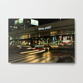 Roppongi Hills Nighttime Metal Print