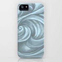 Swirl (Gray Blue) iPhone Case