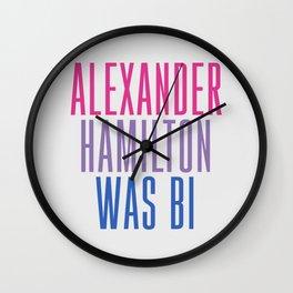 Alexander Hamilton Was Bi #2 Wall Clock