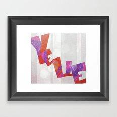 Yelle Framed Art Print