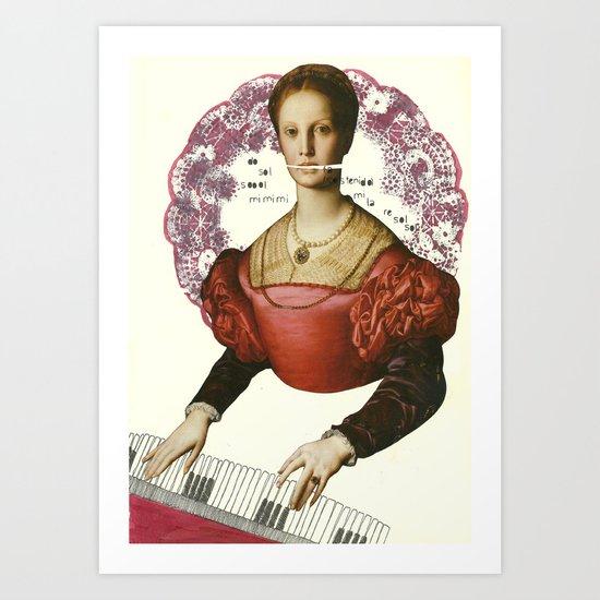 fa sostenido Art Print
