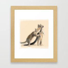 Sam and Susie Squirrel Framed Art Print