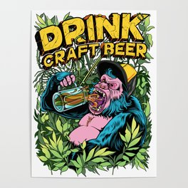 Drink Craft Beer Poster