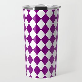Diamonds (Purple/White) Travel Mug