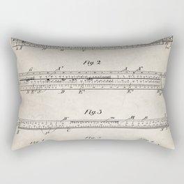 Engineering Patent - Engineers Slide Rule Art - Antique Rectangular Pillow