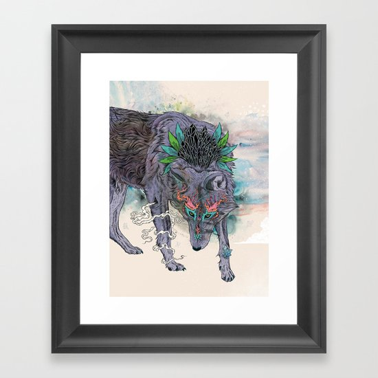Journeying Spirit (wolf) Framed Art Print