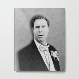 Will Ferrell Funny Old School Tee Shirt Metal Print