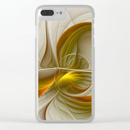 Abstract With Colors Of Precious Metals 2 Clear iPhone Case