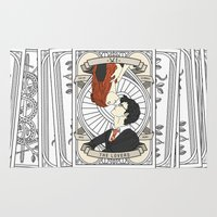tarot Area & Throw Rugs featuring Harry Potter Tarot by Luke Eckstein