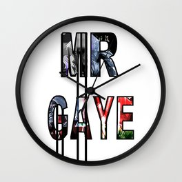 Lets Get It On - MR GAYE Wall Clock