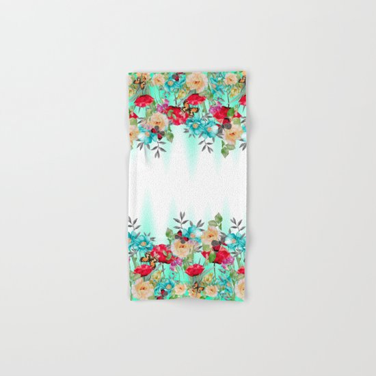 Butterflies and Flowers Hand & Bath Towel