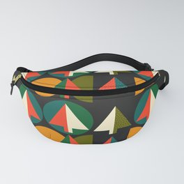 Retro Christmas trees Fanny Pack