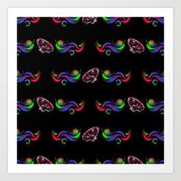 Glow Frog Shimon - Pattern Art Print