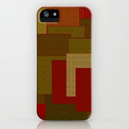 Red Color Geometry iPhone Case