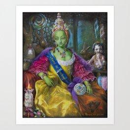 the Candy Queen / Madame de Bonbonniere Art Print