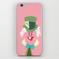 mad hatter iPhone & iPod Skins featuring Mad hatter by Maria Jose Da Luz