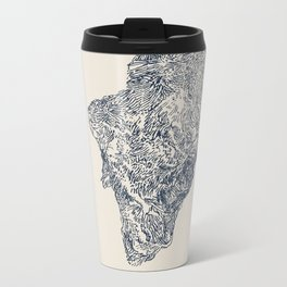 'Inheritance' (2 of 6). Original ink drawings re-coloured in Photoshop. (Other colourways available) Metal Travel Mug