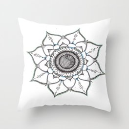 Colored Handmade Unalome Mandala Throw Pillow