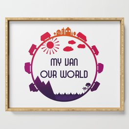 My Van Our World - Sunset Serving Tray