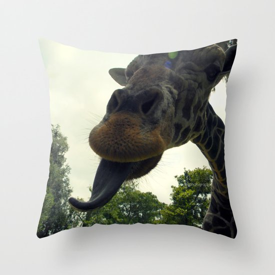 Giraffes are Silly. Throw Pillow