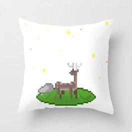 Deer Under the Stars Throw Pillow