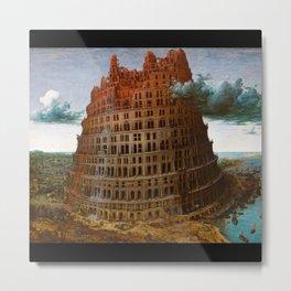 "Pieter Bruegel, "" The Tower of Babel "" Metal Print"