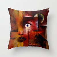 portal Throw Pillows featuring portal by sewec