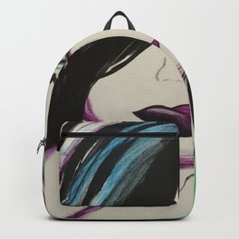 Colorful Girl. Abstract Girl Purple Green.Pop Art by Jodilynpaintings. Figurative Abstract Pop Art. Backpack