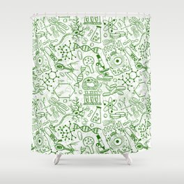 School Chemical pattern #1 Shower Curtain