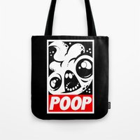 obey Tote Bags featuring OBEY by Artistic Dyslexia