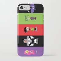 teen titans iPhone & iPod Cases featuring Teen Titans Go by Adrian Mentus