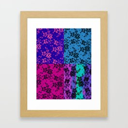 LACE COLLAGE Framed Art Print